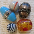 Set of 5 Different Beads, Great for Jewelry Making