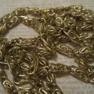 Gold Spiral Link Chain, Great for Jewelry Making
