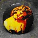 Pin Up Girl Wearing Black, Black Background, Decorated Vanity Pocket Mirror