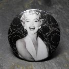 Black and White Marilyn Monroe, Black and White Print Background, Decorated Vanity Pocket Mirror