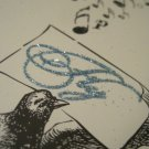 """Small """"Fly"""" Journal, Bird and Music Print, Glitter Embellishments"""