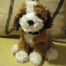 Super Soft Brown and White Dog, Stuffed Animal Toy
