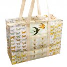 Butterfly Print, Zipper Top Shopper Tote