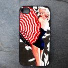 Marilyn Monroe with Umbrella Decorated iPhone 4,5,6 or 6plus Case