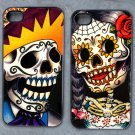 Day of the Dead Man and Woman Decorated iPhone 4,5,6 or 6plus Case