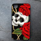 Skull with Rose Vine Decorated iPhone4 or iPhone5 Case