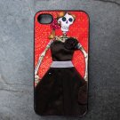 Day of the Dead Bride on Red Background Decorated iPhone 4,5,6 or 6plus Case