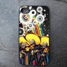 Day of the Dead Band Rainbow Print Background Decorated iPhone 4,5,6 or 6plus Case