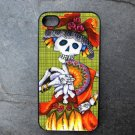 Day of the Dead Women Green Print Background Decorated iPhone 4,5,6 or 6plus Case
