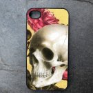 Skull on Flower Print Background Decorated iPhone4 or iPhone5 Case
