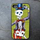 Day of the Dead Groom on Green Print Background Decorated iPhone 4,5,6 or 6plus Case