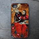 Day of the Dead Couple on Brick Print Background Decorated iPhone 4,5,6 or 6plus Case