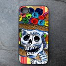 Catrina with Colorful Flower Hat Decorated iPhone4 or iPhone5 Case