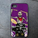 Day of the Dead Drummer on Purple Background Decorated iPhone 4,5,6 or 6plus Case
