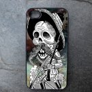 Day of the Dead Fighter on Black Background Decorated iPhone4 or iPhone5 Case