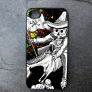 Day of the Dead Rider on Black Background Decorated iPhone 4,5,6 or 6plus Case