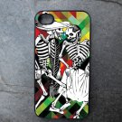 Day of the Dead Couple on Colorful Print Background Decorated iPhone 4,5,6 or 6plus Case