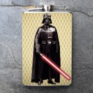 Stainless Steel Flask - 8oz., Darth Vader on Yellow Print Backgroud