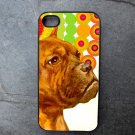 Pit Bull Face on Colorful Print Background Decorated iPhone 4,5,6 or 6plus Case