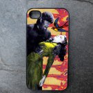 Wolf Man and Women on Colorful Print Background Decorated iPhone4 or iPhone5 Case