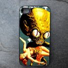 Alien Holding Woman on Blue Background Decorated iPhone 4,5,6 or 6plus Case