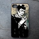 Black and White Spock Decorated iPhone 4,5,6 or 6plus Case
