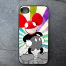 Dead Mouse on Color Burst Background Decorated iPhone4 or iPhone5 Case