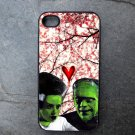 Frankenstein and His Bride Decorated iPhone 4,5,6 or 6plus Case