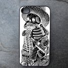 Day of the Dead Man in Black and White Decorated iPhone 4,5,6 or 6plus Case