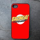 Bazinga! Print on Red Background Decorated iPhone4 or iPhone5 Case