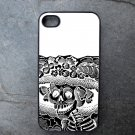 Black and White Catrina Print Decorated iPhone4 or iPhone5 Case