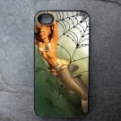 Pin Up Girl with Fish Body on Web Print Background Decorated iPhone 4,5,6 or 6plus Case