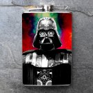 Stainless Steel Flask - 8oz., Darth Vader on Red Background