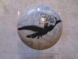 Bird with Music Notes Print Light Blue Background Drawer Knob Pull