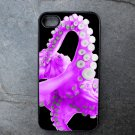Purple Octopus on Black Background Decorated iPhone4 or iPhone5 Case