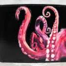 Hand Decorated Wallet, Octopus Tentacles Print