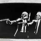 Hand Decorated Wallet, Pulp Faction Guys with Star Wars Masks Print