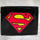 Hand Decorated Wallet, Superman Logo Print