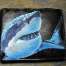 Hand Decorated Wallet, Shark Print
