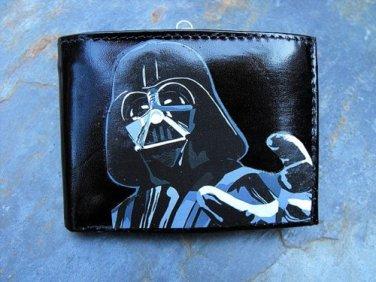 Hand Decorated Wallet, Darth Vader Print