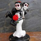 Day of the Dead Bride Carrying Groom Wedding Cake Toppers