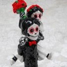 Day of the Dead Couple Piggyback Ride, Wedding Cake Toppers