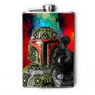 Stainless Steel Flask - 8oz., Boba Fett Print