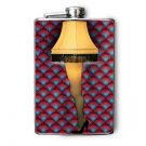 "Stainless Steel Flask - 8oz., Leg Lamp from ""A Christmas Story"" Movie"