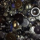 Giant Bag of Vintage Black Buttons