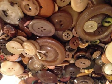 Giant Bag of Vintage Brown Buttons