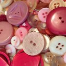 Mixed Bag of Vintage Pink Buttons