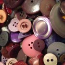 Mixed Bag of Vintage Purple Buttons