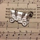 Silver Tone Colored Covered Wagon Charm