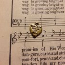 "Small Gold Tone Colored ""Made with Love in the USA"" Heart Charm"